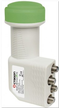 Octagon Quad LNB Green HQ 0.1dB