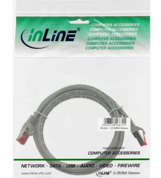 InLine Patchkabel Cat. 6, grau, 3m
