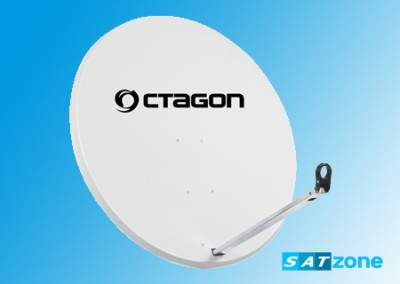 Preview: Octagon Sat-Antenne 120cm Stahl Hellgrau