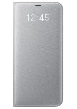 Samsung LED View Book Cover für Galaxy S8 Plus (silber)