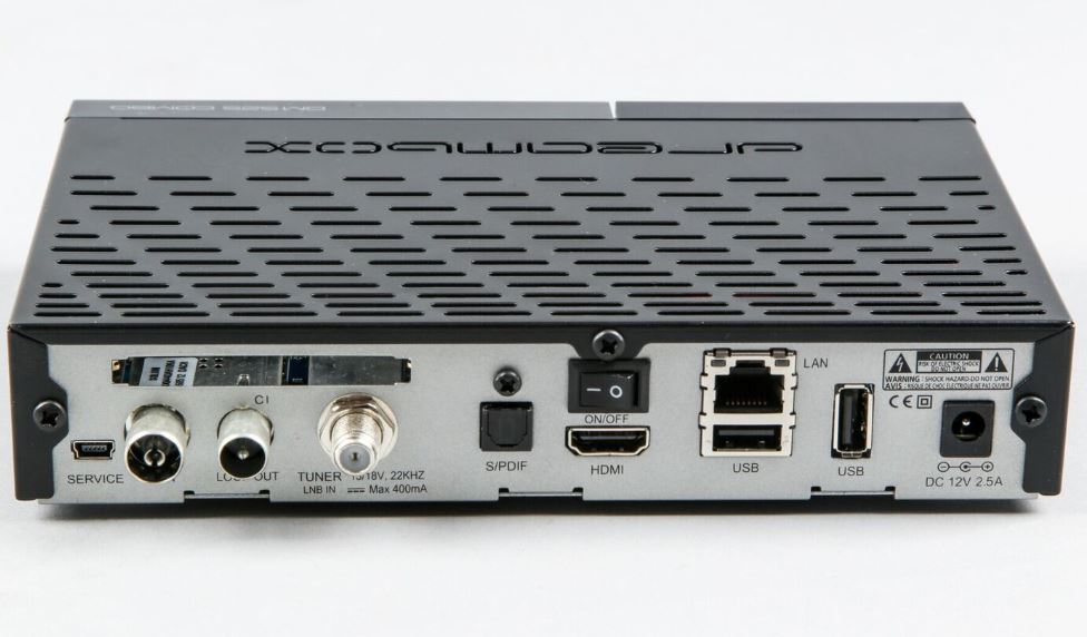 Dreambox DM525 HD Combo Linux E2 Receiver 1x DVB-S2 1x DVB-C/T2