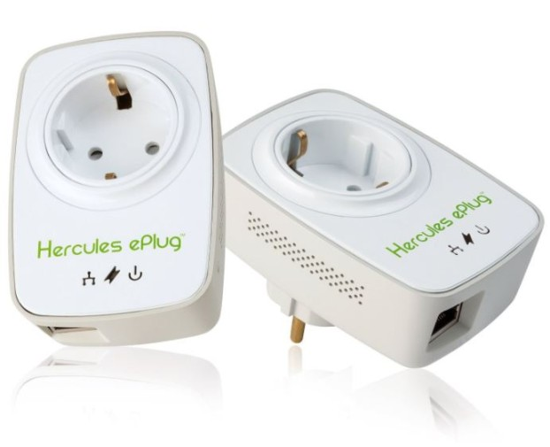 Hercules ePlug Nano 200 Pass Thru Duo PowerLine dLAN