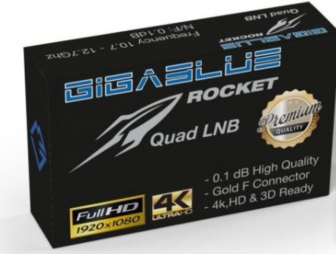 GigaBlue Rocket Quad LNB 0.1dB