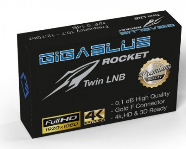 GigaBlue Rocket Twin LNB 0.1dB