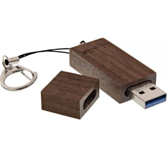 InLine woodstick 3.0 USB Stick 64GB, Walnuss