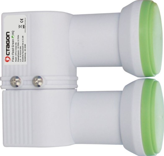 Octagon Flex-Feed Monoblock Single LNB Green HQ 0.1dB