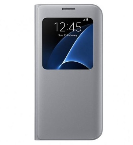 Samsung S-View Book Cover für Galaxy S7 Edge (silber)