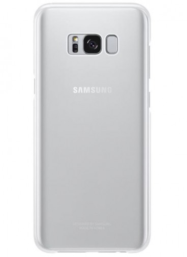 Samsung EF-QG955CS Clear Cover/Handyhülle für Galaxy S8 Plus (silber)