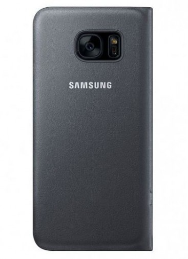 Samsung LED View Book Cover für Galaxy S7 Edge (schwarz)